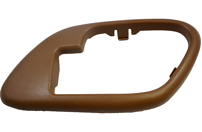 without Lock Hole Inside Interior Inner Door Handle Bezel//Trim PT Auto Warehouse GM-2576E-2RH Passenger Side Beige//Tan