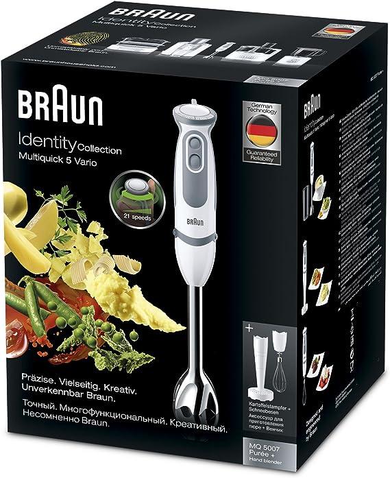 Braun Minipimer 5 MQ5007WH Puree - Batidora de mano, 750 W ...