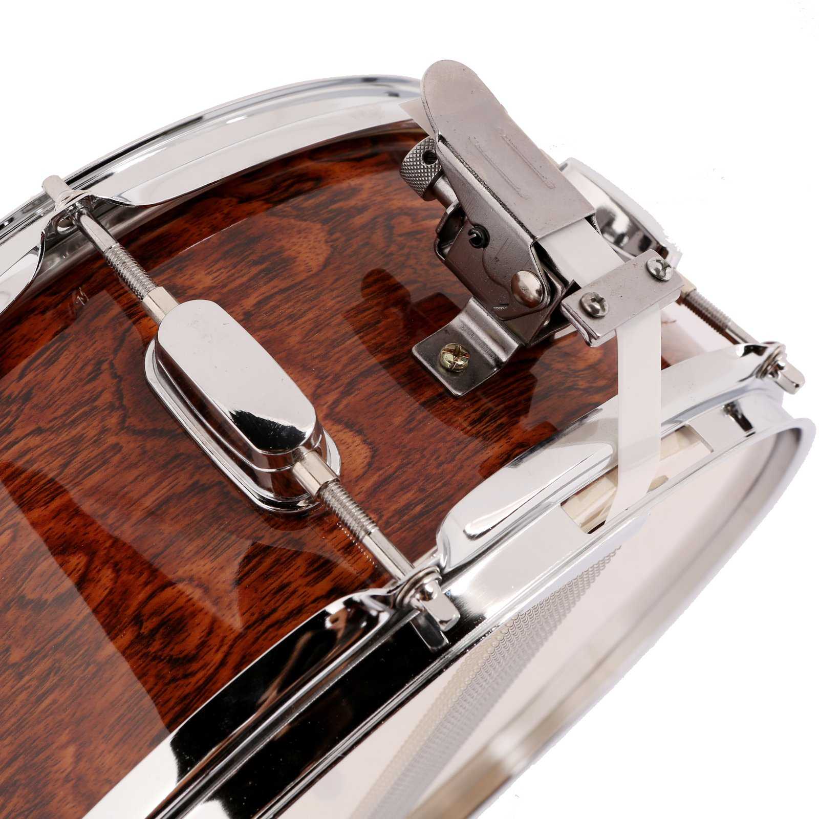 LAGRIMA Student Beginner Snare Drum W/Drum Key, Drumsticks and Strap|14x5.5 inch|Real Wood Shell|8 Metal Tuning Lugs by LAGRIMA (Image #6)