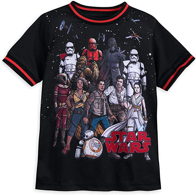 Amazon Com Star Wars The Rise Of Skywalker T Shirt For Boys Multi Clothing