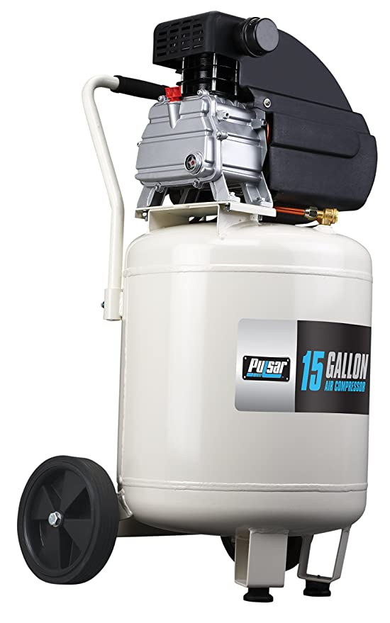 Pulsar 15 Gallon Vertical Tank Portable Electric Air Compressor with Accessories & Added Tool Kit, PCE6150VK - - Amazon.com