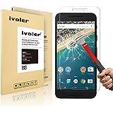 Nexus 5X Protection écran, iVoler® Film Protection d'écran en Verre Trempé Glass Screen Protector Vitre Tempered pour LG Google Nexus 5X- Dureté 9H, Ultra-mince 0.20 mm, 2.5D Bords Arrondis- Anti-rayure, Anti-traces de doigts,Haute-réponse, Haute transparence- Garantie de Remplacement de 18 Mois