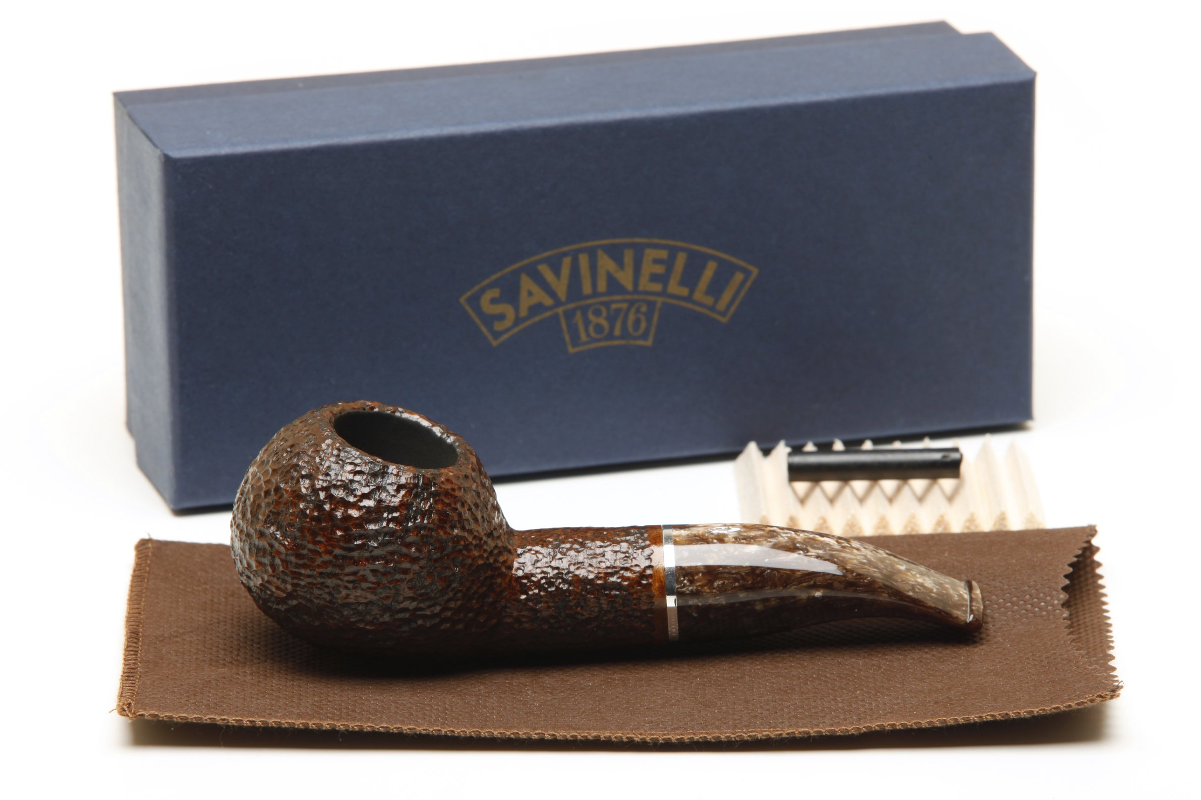 Savinelli Marron Glace 320 KS Rustic Brown Tobacco Pipe