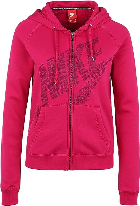 Nike Veste Rally Full Zip à Capuche Logo Rose X Small