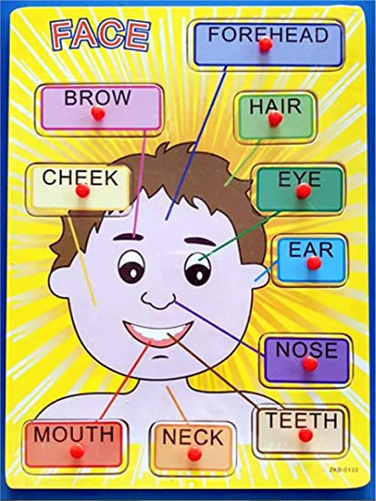 Buy Simple Days Parts of Body - Face Parts Peg Puzzle Online at Low
