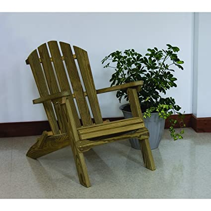 Amazon Com Luxcraft Pressure Treated Wood Folding Adirondack Chair