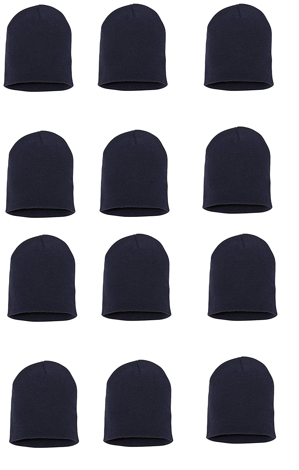 Wholesale 12 PCS Unisex Knit Short Plain Ribbed Beanie Ski Cap Skull Hat  Warm Solid Winter New Blank (Navy) at Amazon Women s Clothing store  696efcec7ab
