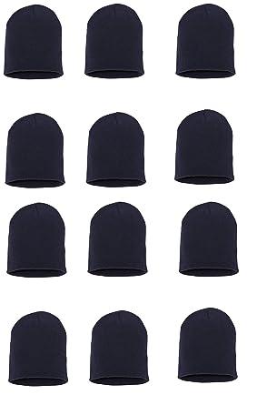 Wholesale 12 PCS Unisex Knit Short Plain Ribbed Beanie Ski Cap Skull Hat 3d7891c67df