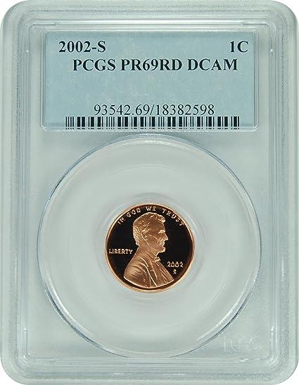 2002-S LINCOLN PROOF 1c CENT PCGS PR69RD DCAM