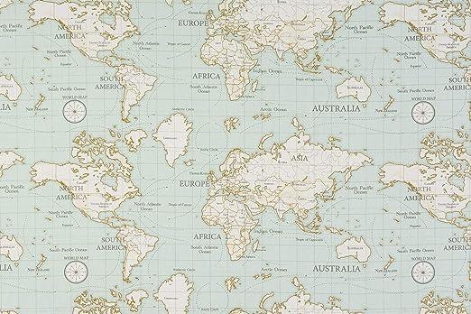 Fryetts Maps - Mantel de Tela de PVC, fácil de Limpiar, PVC, Azul ...