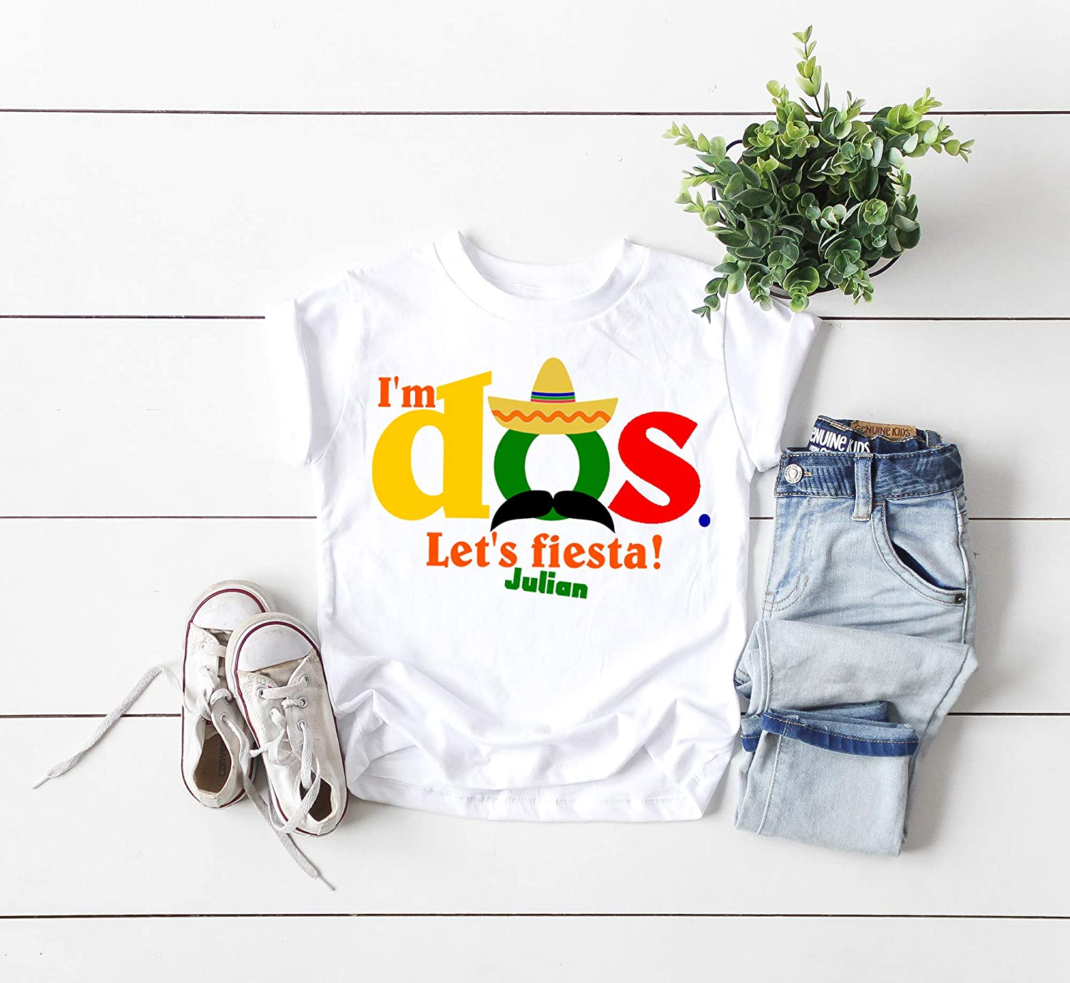Amazon Second Birthday Shirt Cinco De Mayo My 2nd Mexican Dos Personalized Handmade
