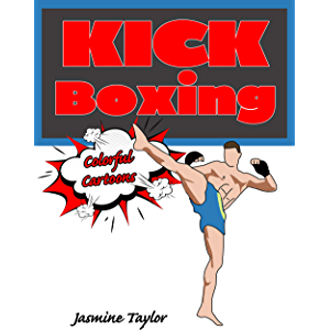 Kickboxing Colorful Cartoon Illustrations