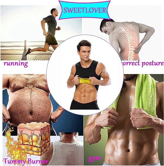 Sweetlover Gilet Sauna Homme N/éopr/ène D/ébardeur Acc/él/ère la Transpiration et la Perte de Poids Sculpte Le Torse pour Fitness Yoga Sport Gilet Sauna Homme Sweat Minceur Gilet