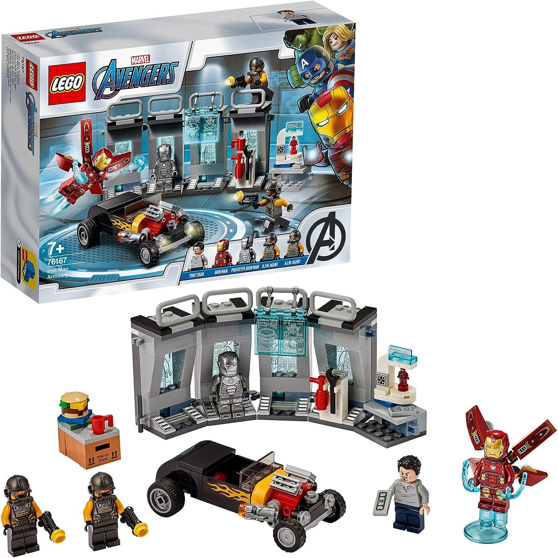 LEGO- Armería de Iron Man Marvel PT Juego de construcción, Multicolor (76167)