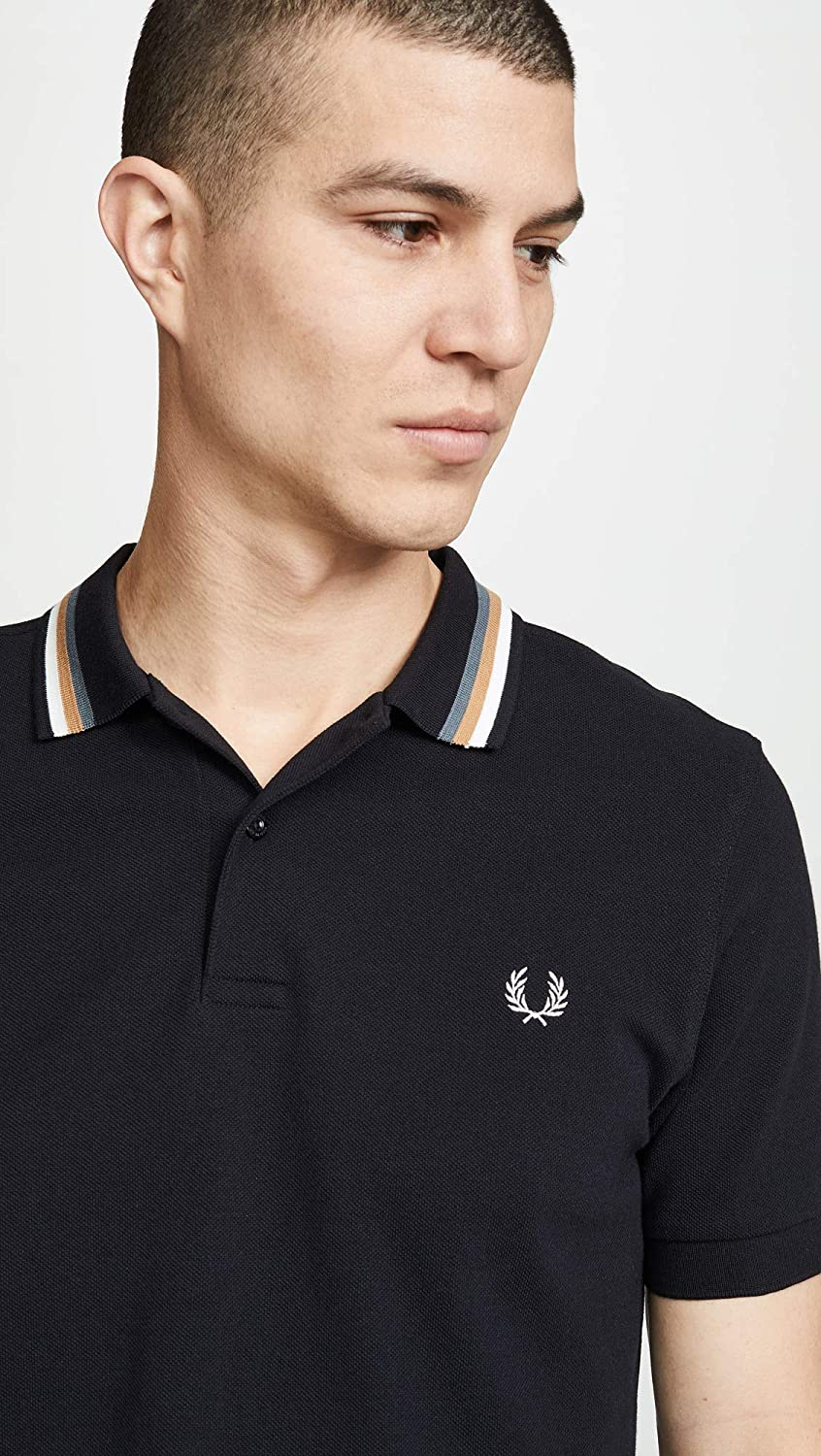 Fred Perry Mens Bomber Stripe Pique Shirt