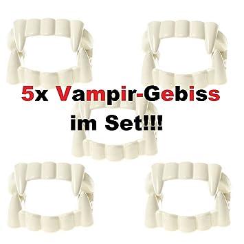 Lg Imports 5x Gebiss Vampirzahne Zahne Dracula Halloween Fasching
