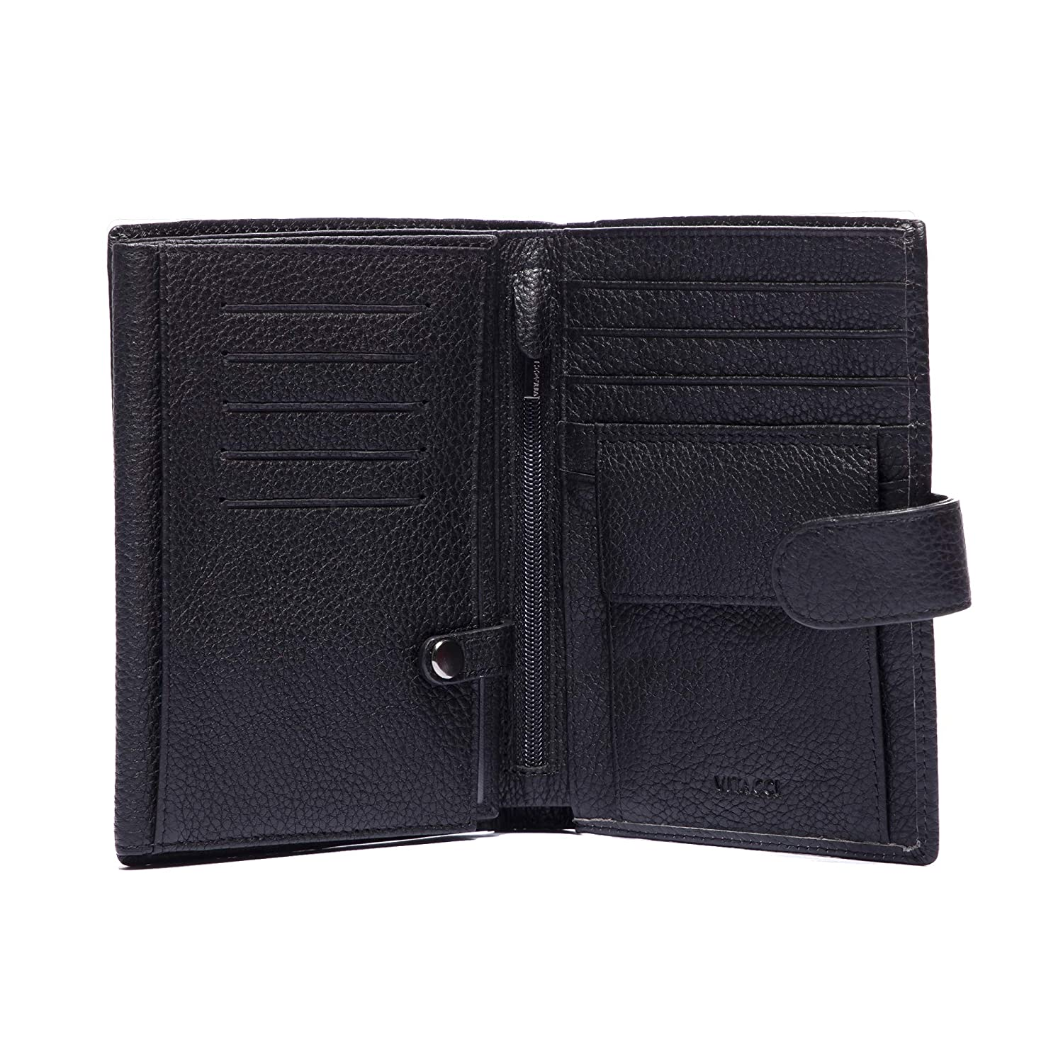 Securely Holds Leather Wallet Organizer Wallets for Men