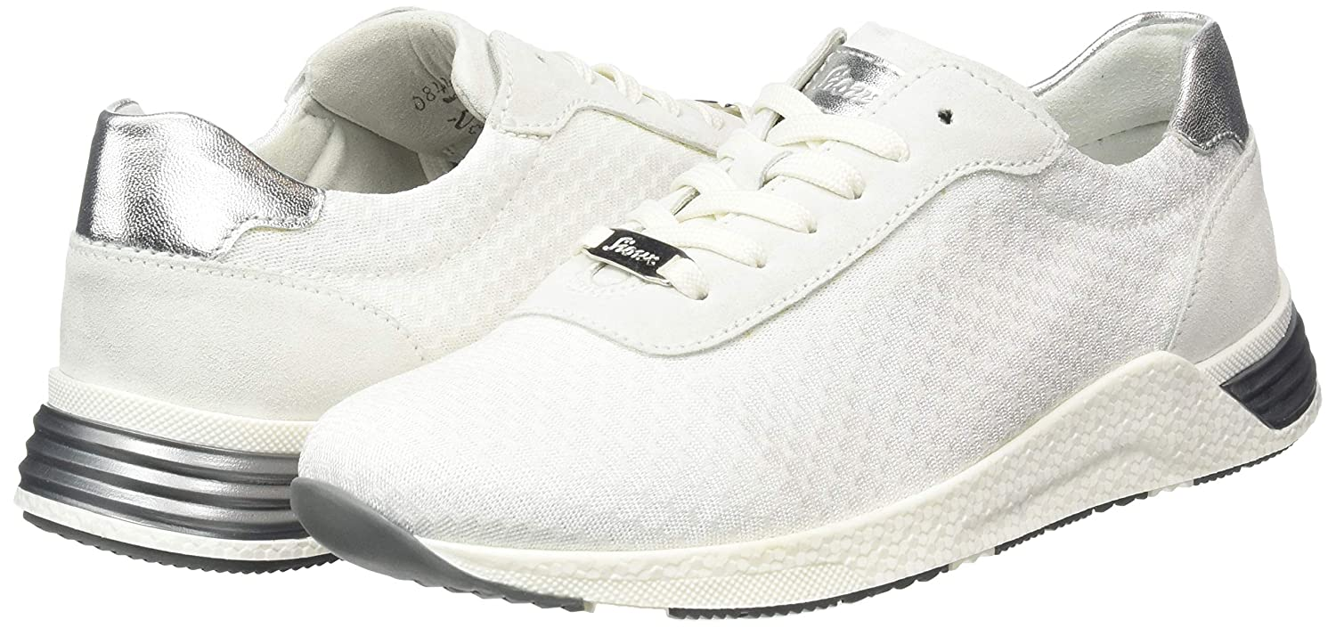 White//Weiss 001 Sioux Womens Natovia-700 Low-Top Sneakers, 7.5 UK