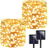 2-Pack Each 72ft 200LED Solar String Lights Outdoor, Super Bright Solar Lights Outdoor (Upgraded Oversize Lamp Beads…