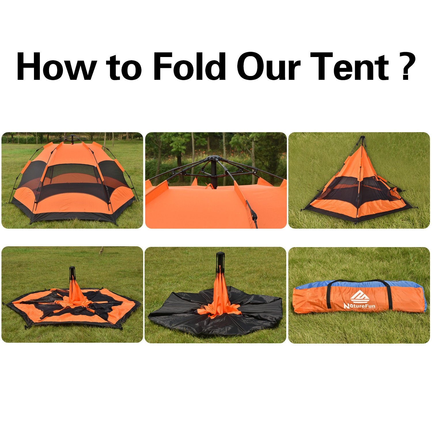 NatureFun 3-4 Person Waterproof C&ing Backpacking Family Automatic Spring Frame Tent 2 Doors4 Season260*140*240cm(L*H*W) Amazon.co.uk Sports u0026 ...  sc 1 st  Amazon UK & NatureFun 3-4 Person Waterproof Camping Backpacking Family ...