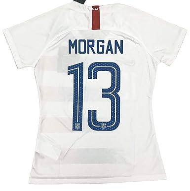 low priced 1b734 bdd19 New #13 Morgan Women's USA Soccer 2018/2019 Home Jersey