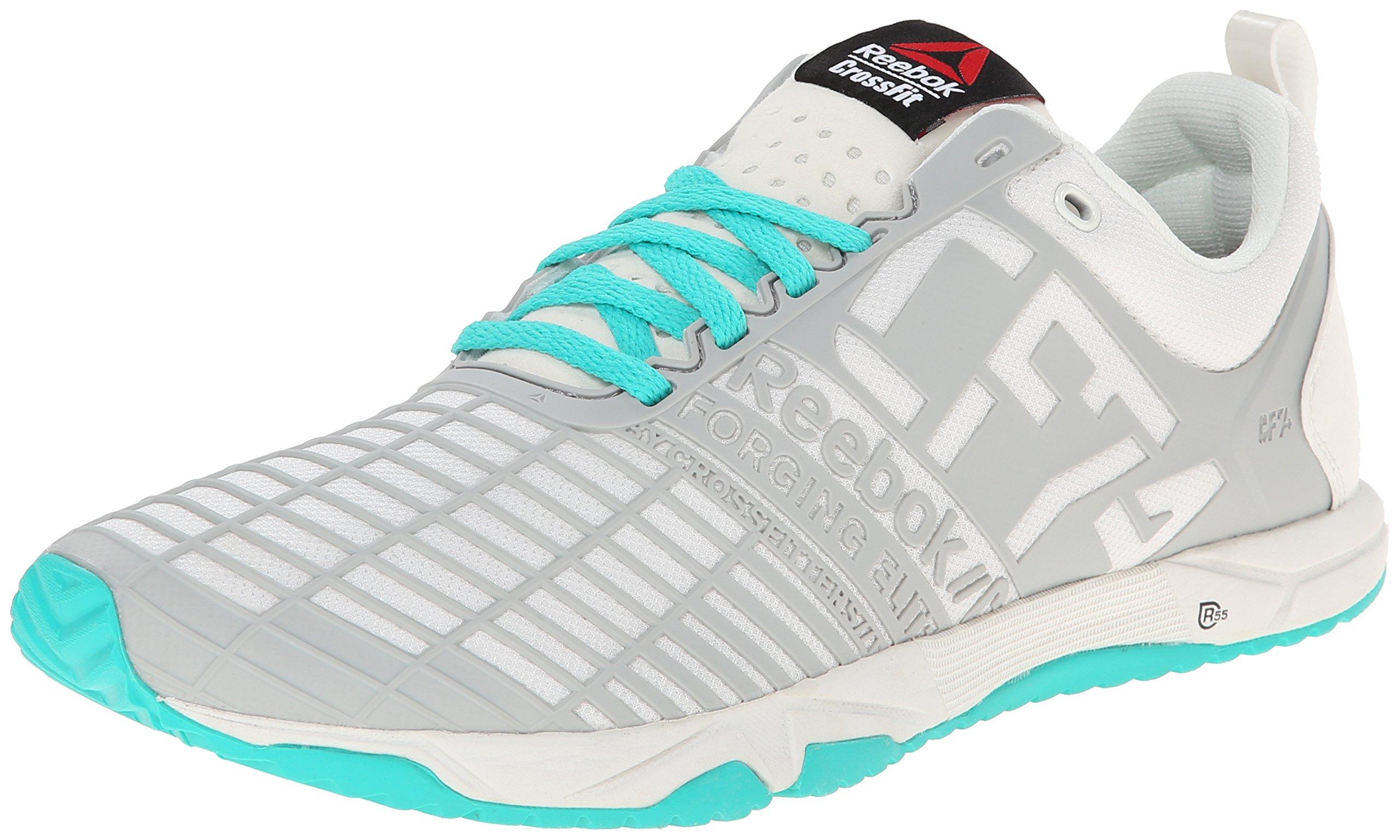 Reebok Women's Crossfit Sprint TR Training Shoe, Chalk/Steel/Timeless Teal, 10 M US