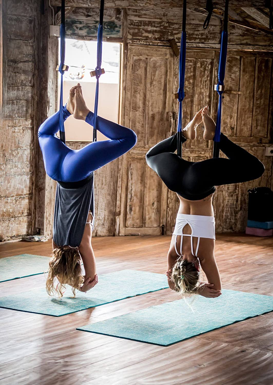 FlyHigh Yoga Cinturón para Colgar – Yoga Swing/Honda/Hamaca/inversión Herramienta, Color Morado