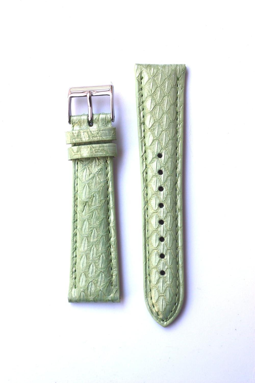 18 mm Apple Green Genuine Snakeskinバンドからイタリアfor Micheleスタイル  B005ZL9C30