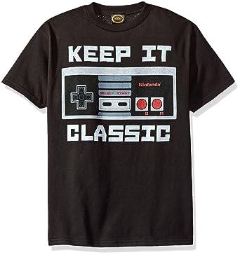 Nintendo Little Boys Kepp It Classic Controller Graphic T-Shirt, Black, YXS