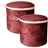 2pcs Storage Ball Stuff Washing Machine Wash Bags Golf Drawstring for and Sack Nylon Red Fabric