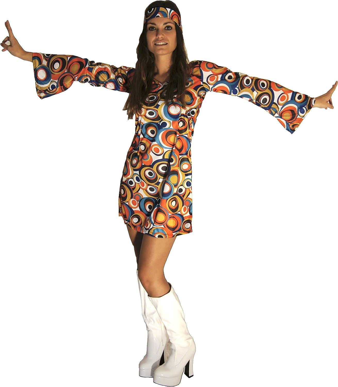 FANCY DRESS FUN 70/'S FLOWERPOWER GOGO DRESS XL 16-18