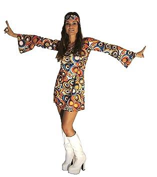 60s 70s Swirl Hippy Retro Gogo Fancy Dress Size 3XL (Women  20-22 ... a49e547f68
