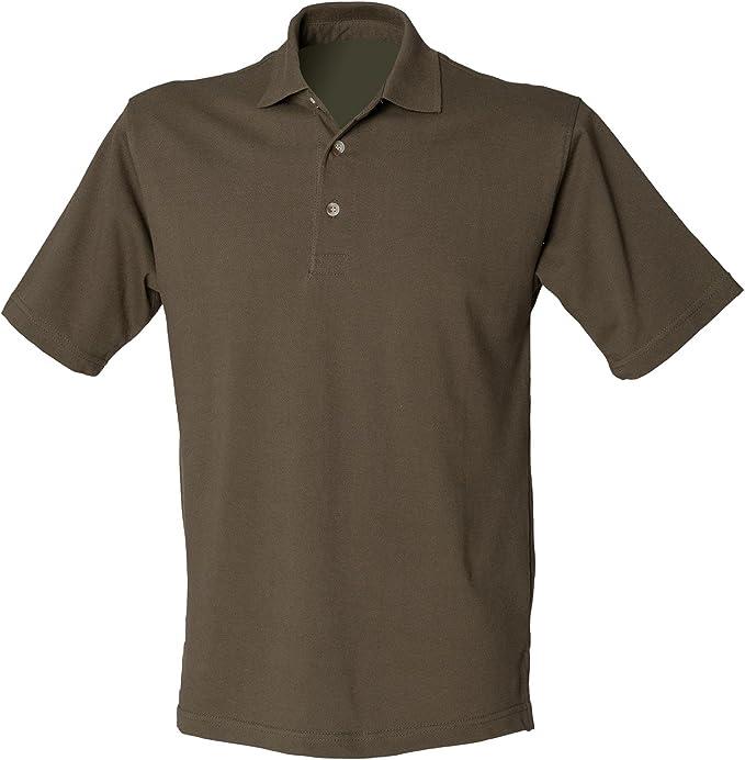 Henbury New para Hombre Classic de Tres Botones Camisas de Polo ...