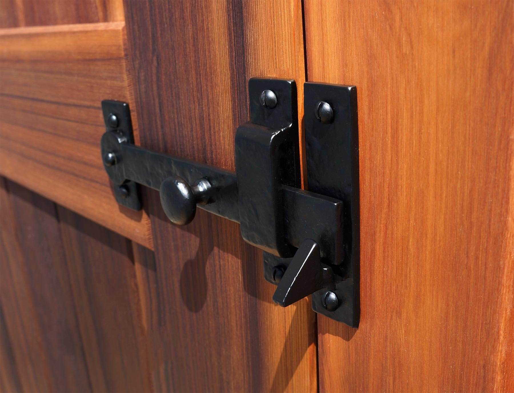 Iron Valley - 7.5'' Gate Drop Bar w/Knob (Lever Latch) - Solid Cast Iron by Iron Valley Hardware (Image #6)