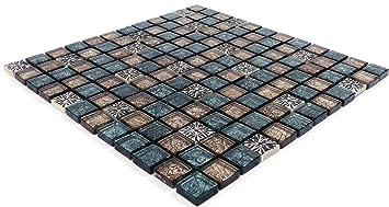 Wunderbar Glasmosaik 30x30cm Glasfliesen Glanz Mosaikfliese Bodenfliesen Fliesen  Bordüre Wanddeko Mosaiksteine Matte Küche Badezimmer Wandfliese Wohnzimmer  Boden