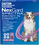 Nexgard Spectra - Flea, Tick and Worming Monthly Chew for 15.1-30kg Dog, 3 Pack