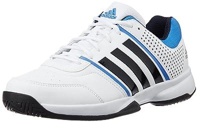 adidas Men's Merrick Tns White, Dark Blue and Blue Tennis Shoes - 11 UK