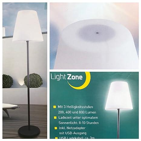 LIGHTZONE Solar Exterior - Lámpara de pie: Amazon.es: Jardín