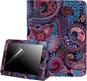 HDE Case for Original iPad 1st Generation - Slim Fit Leather Cover Stand Folio with Magnetic Closure for Apple iPad 1 (Purple Paisley)