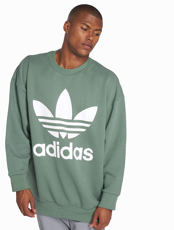 adidas originals herren pullover originals tref over crew in grün
