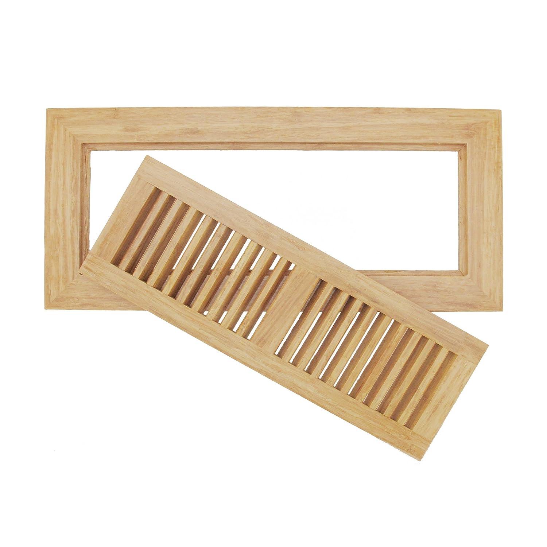 Bamboo wood floor vent register wood 6 3 4 x 14 3 4 ebay for Wood floor registers 6 x 14