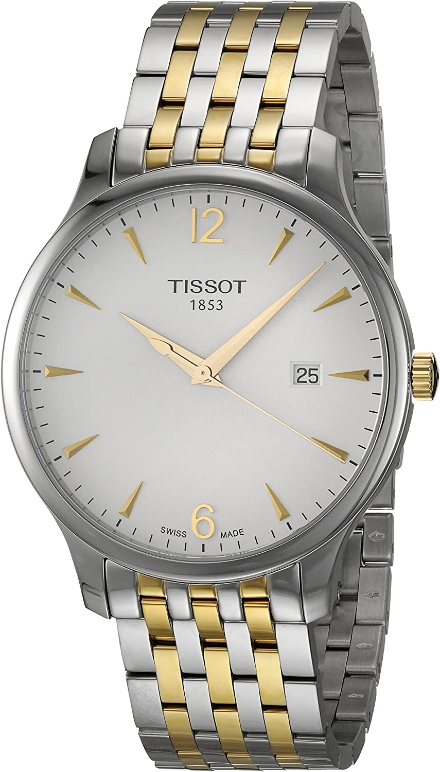 Tissot Mens Tradition Swiss Quartz Stainless Steel Dress Watch (Model: T0636102203700)