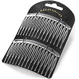 Ladies Elegant Two Piece Clear Colour Hair Side Comb Set 8cm Wide