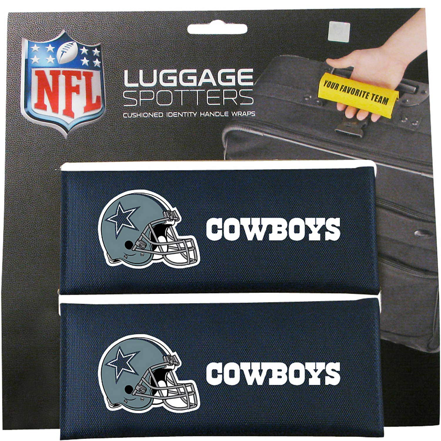 COWBOYS Luggage Spotter Suitcase Handle Wrap Bag Tag Locator with I.D. Pocket (2-pack) - CLOSEOUT! THEY ARE SELLING OUT FAST!