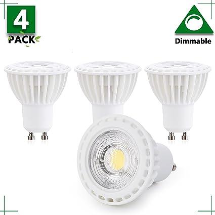 Amazon.com: 1 paquete – GU10 Bombilla LED de 3 W regulable ...