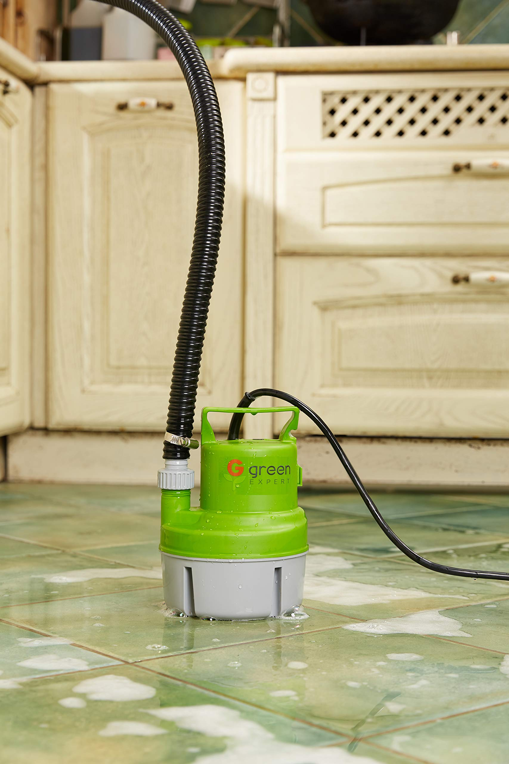 Green Expert 203617 1/6 HP Portable Submersible Utility Pump with 1056 GPH Flow Efficiently for Water Removal Basement Flood Drainage Pump with 3/4'' Adaptor Available for Standard Garden hose by G green EXPERT (Image #6)