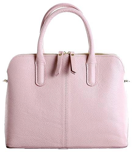c8dacd546c8 Primo Sacchi Italian Textured Leather Bowling Style Tote Grab Bag or  Shoulder Bag Handbag