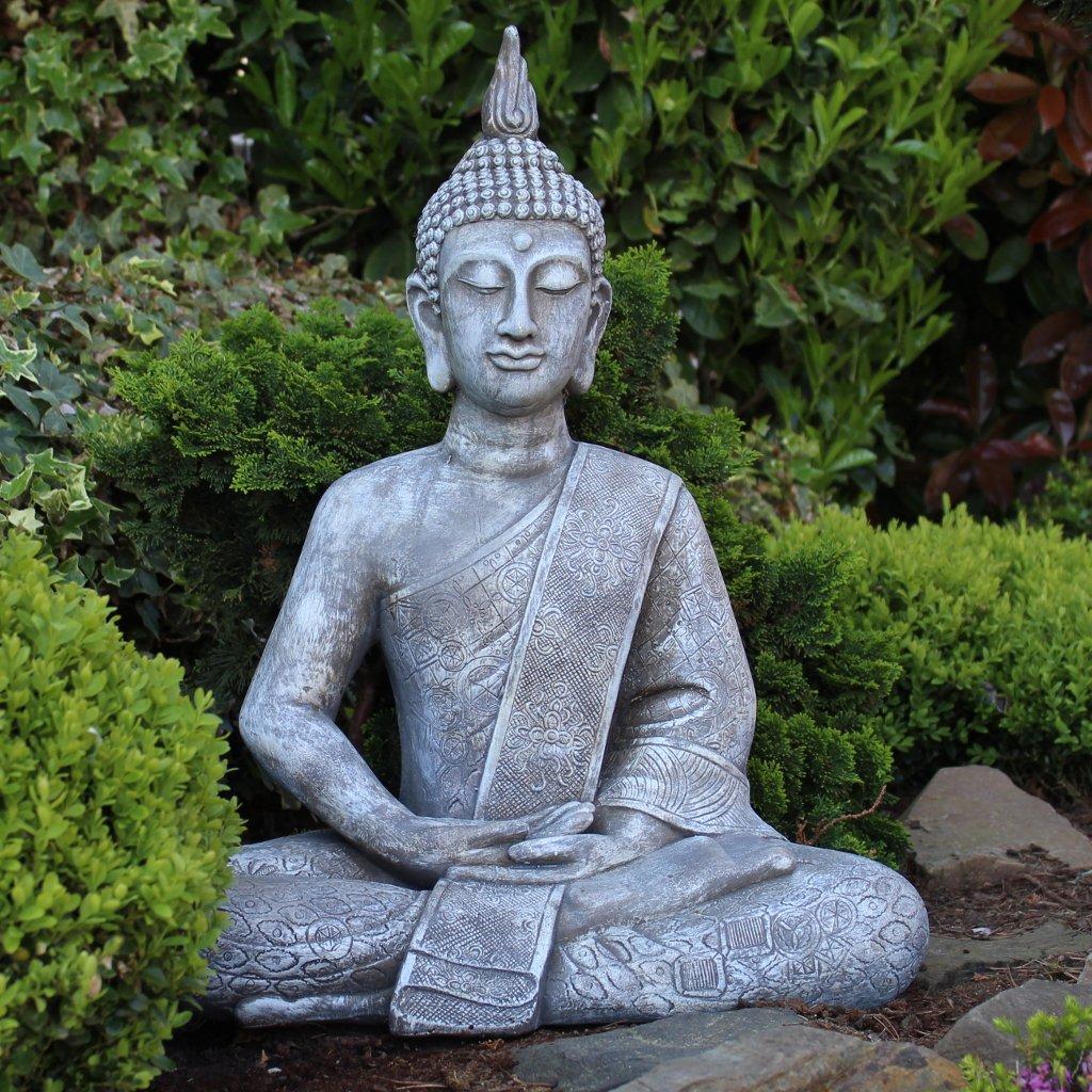 Amazon.de: Buddha Statue Groß 65cm Sitzend Deko Figur Für ...