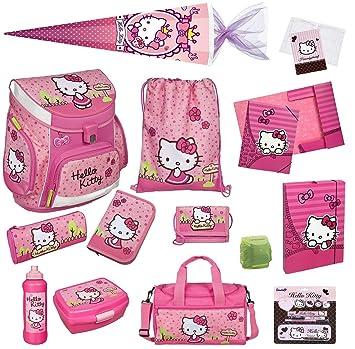 da8e636b7deb5 Familando Hello Kitty Schulranzen Set 21tlg Schultüte 85cm Sporttasche Ranzen  Scooli Campus Up HKYX8252