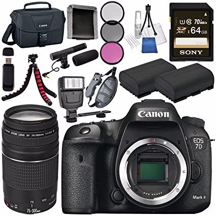 Amazon com : Canon EOS 7D Mark II DSLR Camera 9128B002 +